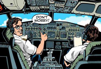 piloto de avión comercial