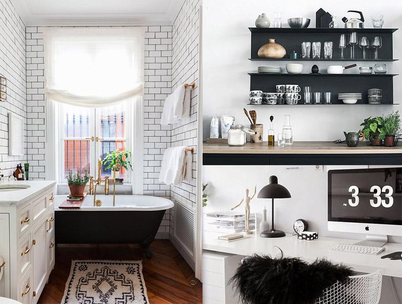 16 ideas para una decoración en blanco y negro para encontrar el ...